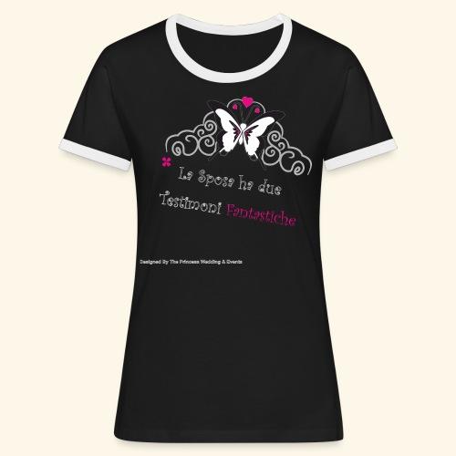 Testimoni Nozze - Maglietta Contrast da donna