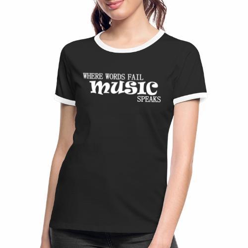 MUSIK - Frauen Kontrast-T-Shirt