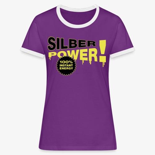 SilberPower! - Dame kontrast-T-shirt