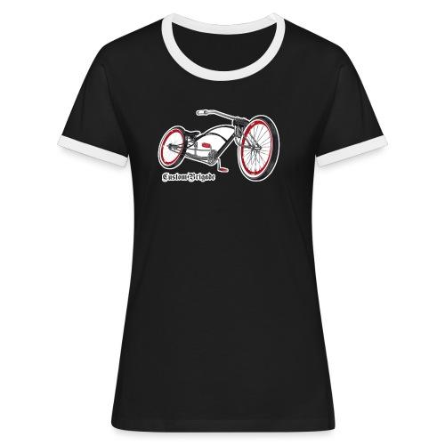 velo02 transparent - T-shirt contrasté Femme