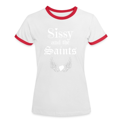 Sissy & the Saints witte letters - Vrouwen contrastshirt