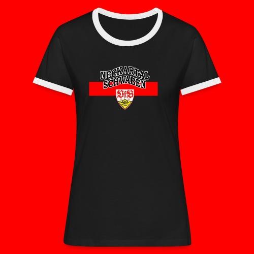 NTS-Logo DA - Frauen Kontrast-T-Shirt