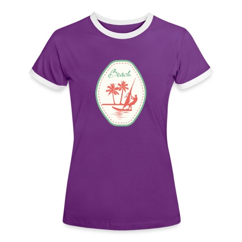 Beach - Women's Ringer T-Shirt