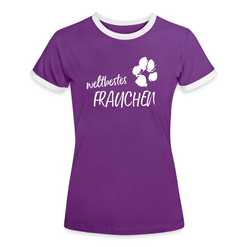Vorschau: weltbestes Frauchen Pfote Hund - Frauen Kontrast-T-Shirt