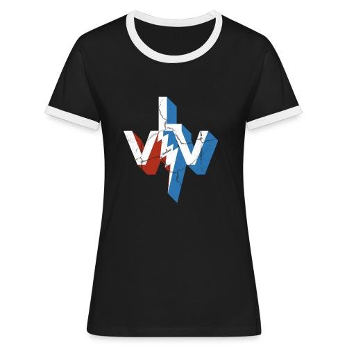 einelinie Viva Las Vegas - Frauen Kontrast-T-Shirt