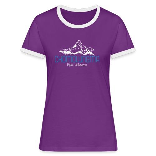 CHOMOLUNGMA - Maglietta Contrast da donna