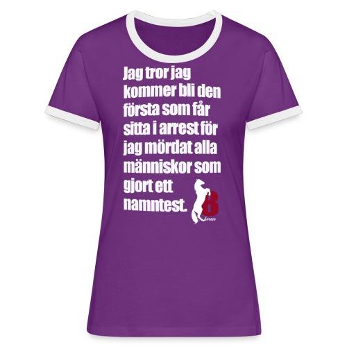 HorseBook line - Kontrast-T-shirt dam