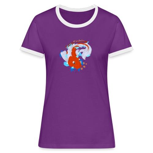 Carpa Koi - Carp Fishing - Maglietta Contrast da donna