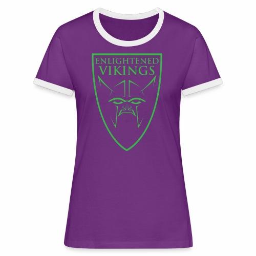 Enlightened Vikings (Org) - Kontrast-T-skjorte for kvinner