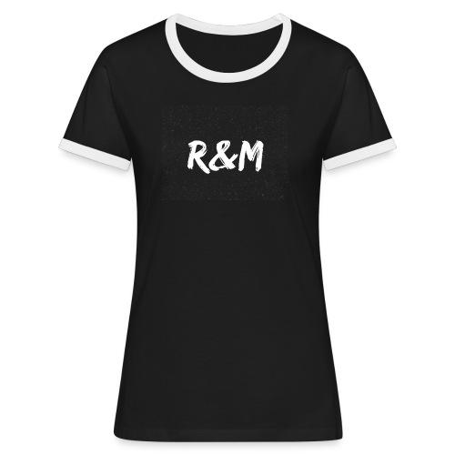 R&M Large Logo tshirt black - Women's Ringer T-Shirt