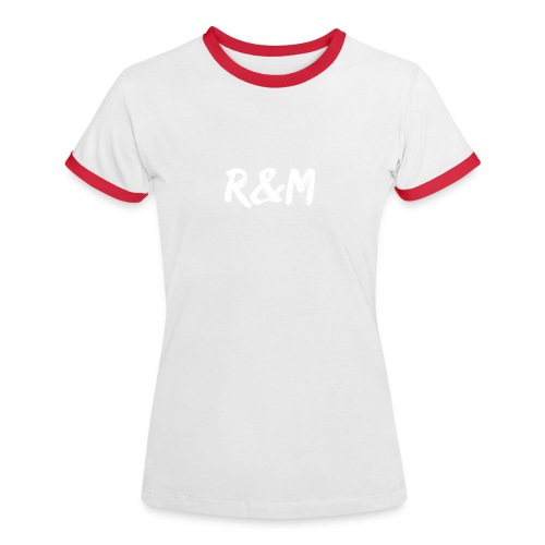 R&M Large Logo tshirt black - Women's Ringer T-Shirt