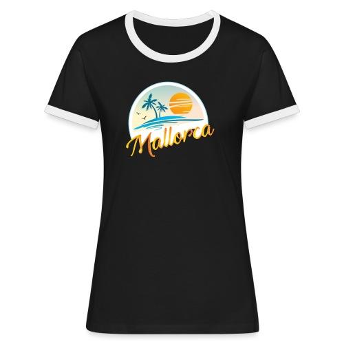 Mallorca - die goldene Insel der Lebensqualität - Frauen Kontrast-T-Shirt