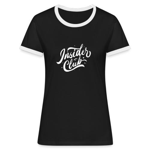 Insider Club - Frauen Kontrast-T-Shirt