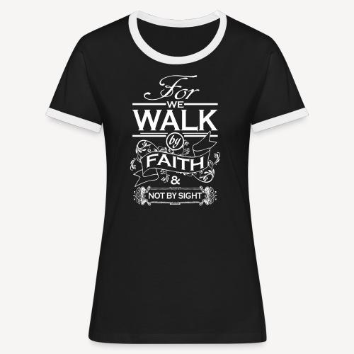 walk white - Women's Ringer T-Shirt