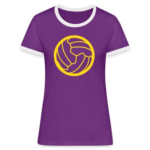 I <3 football! - T-shirt contrasté Femme