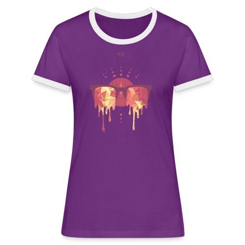 summer png - Dame kontrast-T-shirt