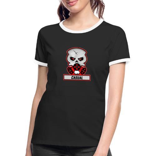 Casual-Gaming-Logo - Frauen Kontrast-T-Shirt