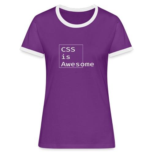 cssawesome - white - Vrouwen contrastshirt