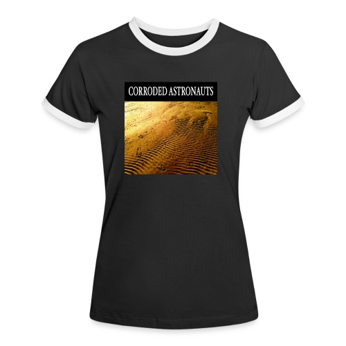 Corroded Astronauts Album Cover - Kontrast-T-shirt dam
