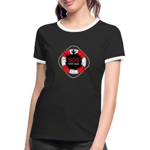 SOS NOTP CREW - Vrouwen contrastshirt