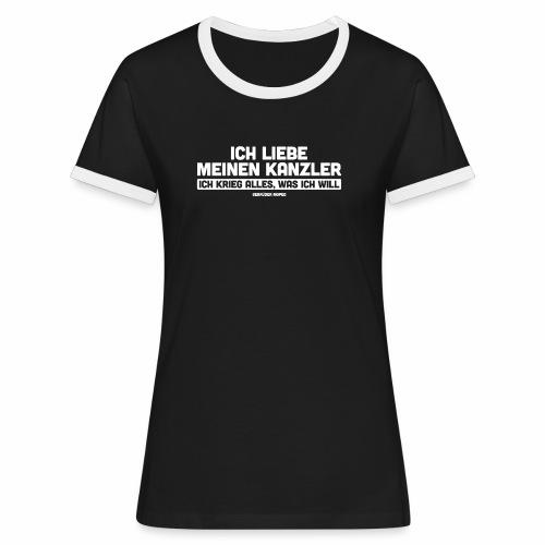 Ich liebe meinen Kanzler - Frauen Kontrast-T-Shirt