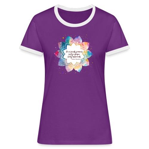 Citation de Nelson Mandela - T-shirt contrasté Femme