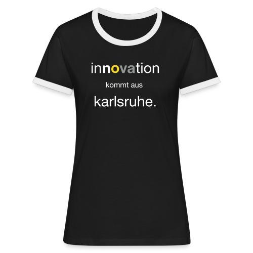 Innovation aus Karlsruhe - Frauen Kontrast-T-Shirt