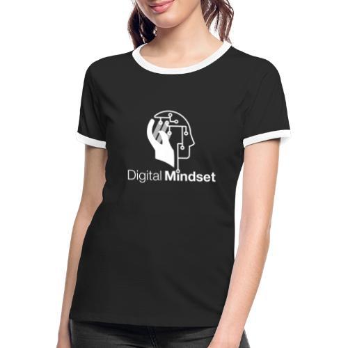 Digital Mindset Logo Weiß - Frauen Kontrast-T-Shirt