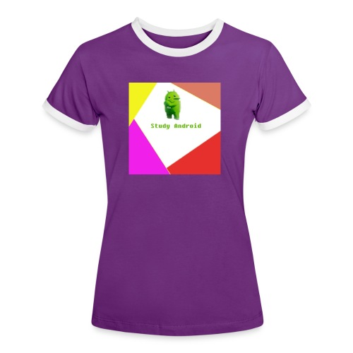 Study Android - Camiseta contraste mujer