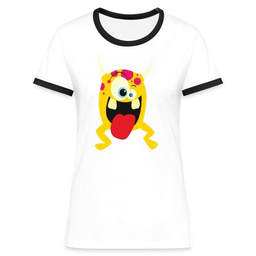 Monster Yellow - Vrouwen contrastshirt