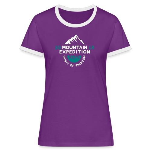 MOUNTAIN EXPECTION - ALPS - Maglietta Contrast da donna