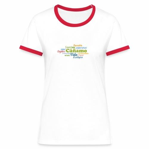 Cáñamo Sustentable - Camiseta contraste mujer