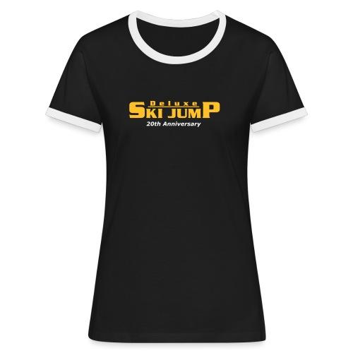 Deluxe Ski Jump - 20th Anniversary - Women's Ringer T-Shirt