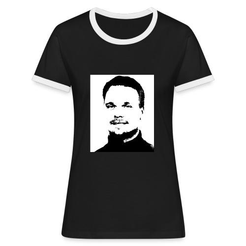allaspeter - Kontrast-T-shirt dam
