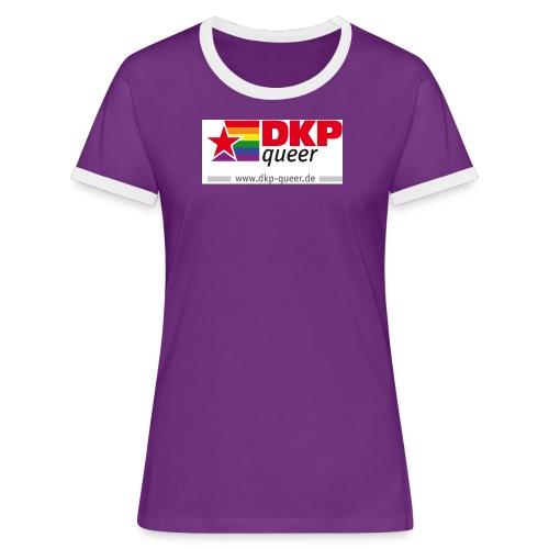 dkpqueer logo 4c www - Frauen Kontrast-T-Shirt