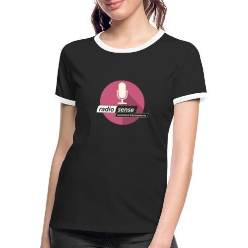 Ouverture francophone - Frauen Kontrast-T-Shirt