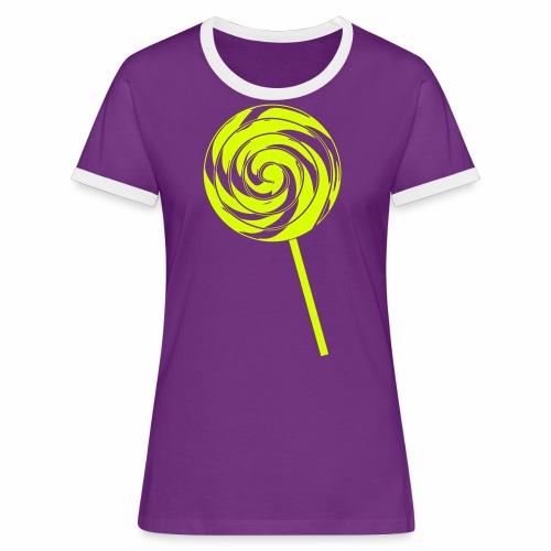 Retro Lolly - Frauen Kontrast-T-Shirt
