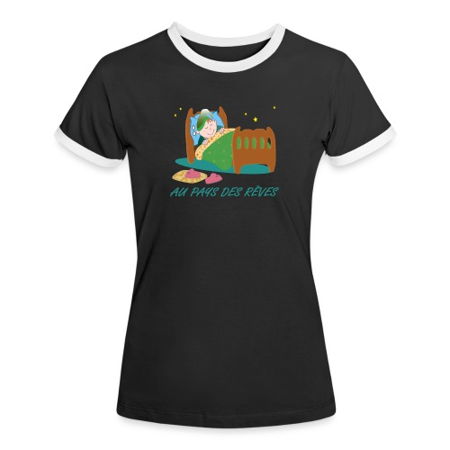 Personnage endormi - T-shirt contrasté Femme