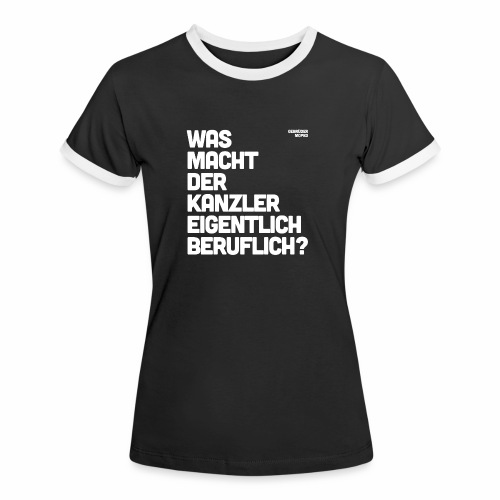 Kanzler - Frauen Kontrast-T-Shirt