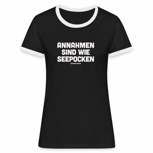 Seepocken - Frauen Kontrast-T-Shirt