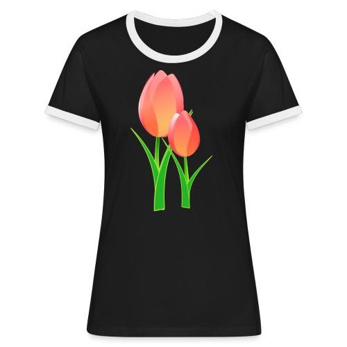 Belle fleur - T-shirt contrasté Femme