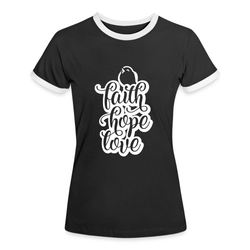 typo kinder 2016outline - Frauen Kontrast-T-Shirt