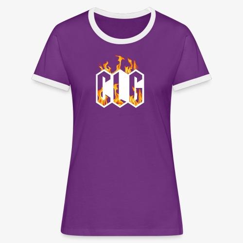 CLG DESIGN - T-shirt contrasté Femme