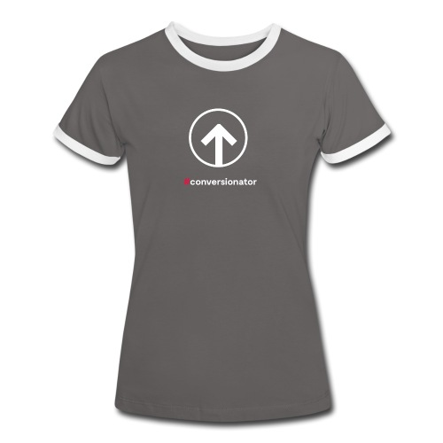 Conversionator mit Pfeil (weiß) - Frauen Kontrast-T-Shirt