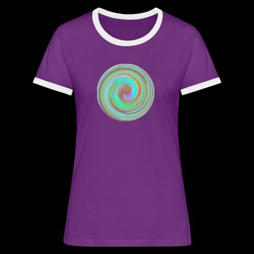 Illusion d'optique - T-shirt contrasté Femme