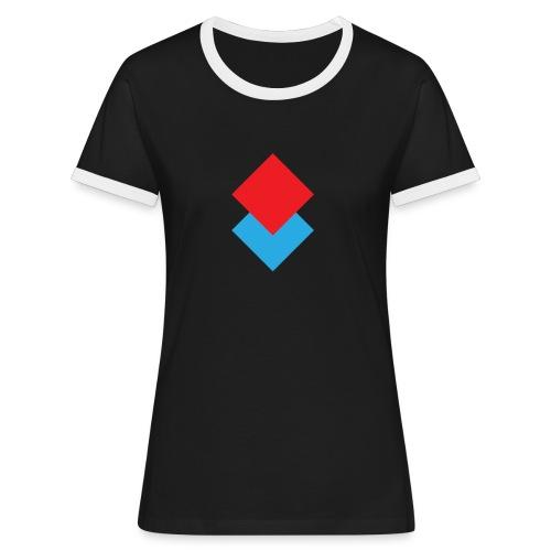 wzortroj - Koszulka damska z kontrastowymi wstawkami