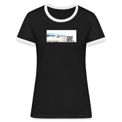 miamibeach - Women's Ringer T-Shirt