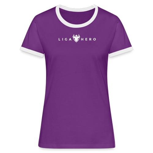 tshirt logo white png - Frauen Kontrast-T-Shirt