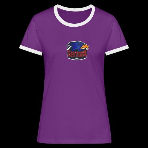 Sektion9 Dunkelblau - Frauen Kontrast-T-Shirt