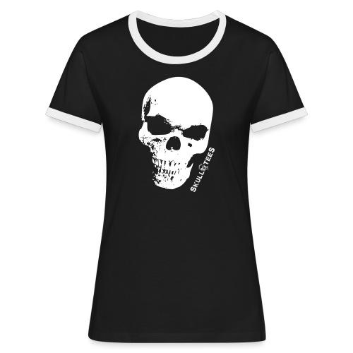 skullGROSS weiss png - Frauen Kontrast-T-Shirt